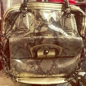Gorgeous Limited edition Large Coach phyton bag !